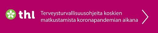 Kuvalinkki THL:n verkkosivuille. Terveysturvallisuusohjeita koskien matkustamista koronapandemian aikana.